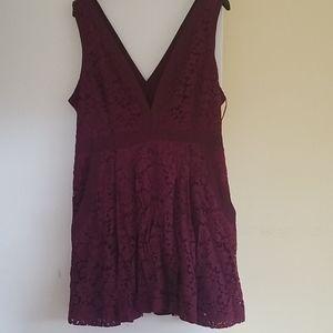 Free People Lace Mini Dress EUC